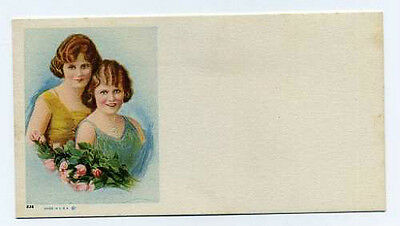 Blotter with Two Women - beautiful 1920s image