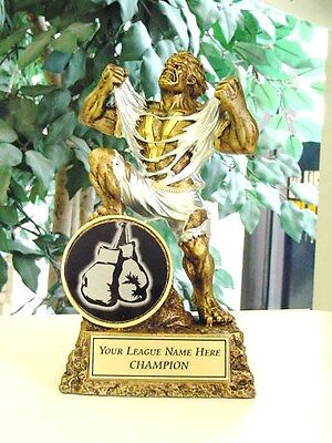 BOXING PLAQUE TROPHY FIGHT AWARD FREE LETTERING P*54509GS