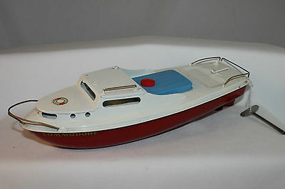 "1950's Sutcliffe Clockwork Cruising Boat, ""Commodore"", New in Box"