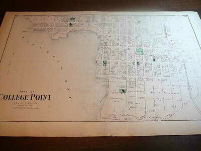 1873 Beers atlas map of part of College Point, NY