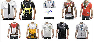 Adults Unisex Fancy Dress Instant Party Costume Set T Shirts Tops Student Stag
