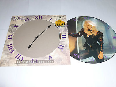 "VIXEN - Not A Minute To Soon - 1990 UK EMI limited edition 3-track 12"" PICTURE"