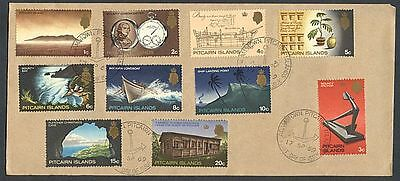 PITCAIRN ISLAND 1969 DEFINITIVES TO 20c FDC (x10 STAMPS) (ID:175/PI62)