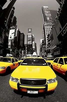 New York Yellow Cabs Times Square POSTER (61x91cm) Picture Print New Art