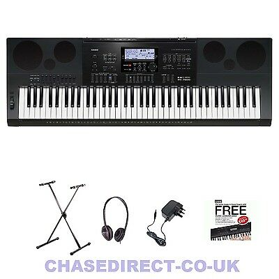 Casio WK-7600 Digital Electric Piano Keyboard Free Stand Headphones Power Supply