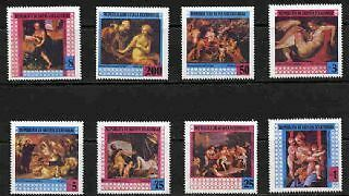 Equatorial Guinea 1993 Nude Paintings  Set Of Eight Stamps!