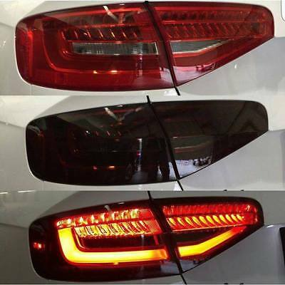 Car Headlight Taillight Lamp Film Dark Black 100cm x 30cm tint tail light foil