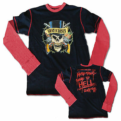 Guns N Roses Long Sleeve Thermal Layered Shirt Size XL, New 1991 Theatre Tour