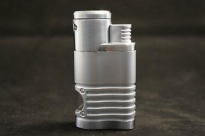 Zico (ORIGINAL) Refillable Butane Huge (4 head) Torch Flame Lighter Silver