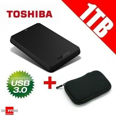 "TOSHIBA CANVIO 1TB 2.5"" Portable Hard Disk Drive USB 3 NEW External HDD AU Pouch"