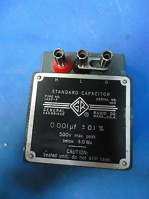 General Radio Genrad Type 1409-F Standard Capacitor