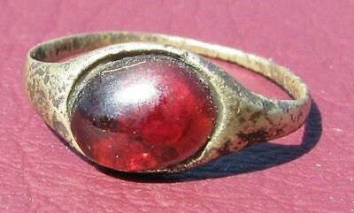 Metal Detector Find> Authentic Ancient FINGER RING Sz: 2 1/4 US 13.5mm 0902 DR