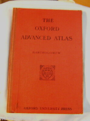 #oo. 1942  Oxford Advanced Atlas, Wwii Issue