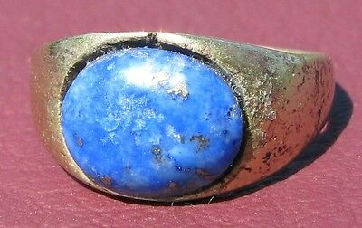 Metal Detector Find> Authentic Ancient FINGER RING Sz: 5 1/2 US 16mm 0915 DR