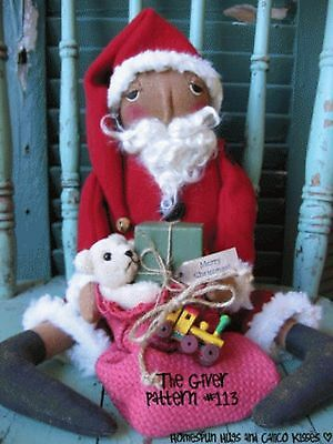 Primitive Folk Art The Giver A beautiful Santa Doll Great Christmas Display