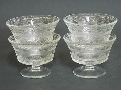 Federal Glass 1932-1937 ~ Patrician ~ Clear Glass Sherbet (4)
