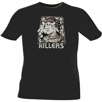 The Killers T-Shirt  NEW- Engraved Bust Rock Band Concert Tee, Small or Large