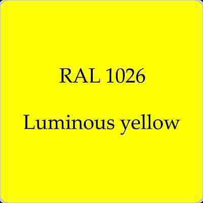 RAL 1026 CAR BODY PAINT HighQuality  LUMINOUS YELLOW 1L WITH FREE STRAINER