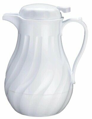 SWIRL WHITE THERMAL COFFEE SERVER CARAFE - 42 oz