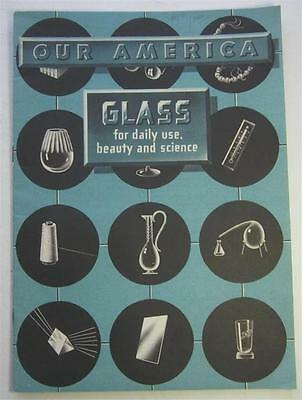 Our America Glass 1954 Advertising Color Stickers Booklet Coca-Cola