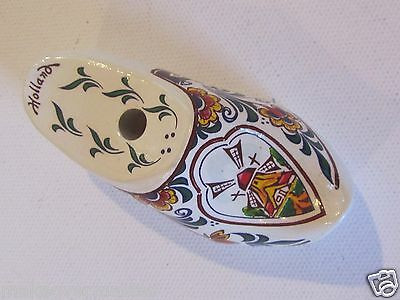 Vintage Miniature Wood Clog/Shoe Pencil/Pen Holder, Made in Holland, CUTE
