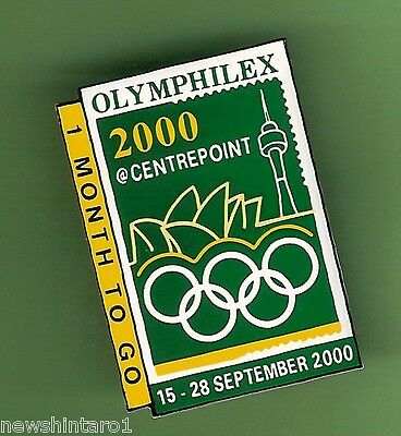 #D48.  2000 Olymphilex Badge - Centrepoint, 1 Month To Go