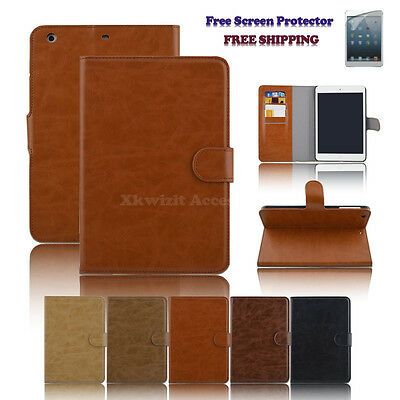 New PU Leather Wallet Folding & Stand Case Cover for iPad Mini 3 2 1 Retina