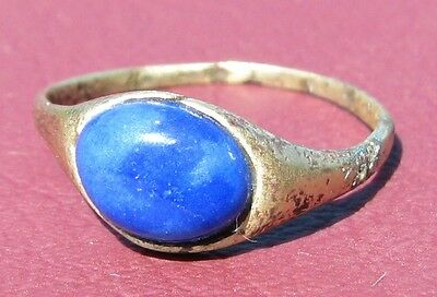 Metal Detector Find> Authentic Ancient FINGER RING Sz: 4 3/4 US 15.5mm 0911 DR