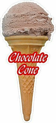 Soft Scoop Chocolate Ice Cream Cone Sticker Large
