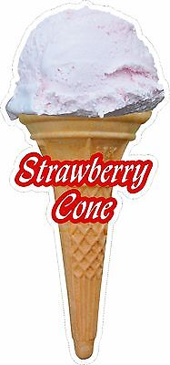 Soft Scoop Strawberry Ice Cream Cone Sticker Large