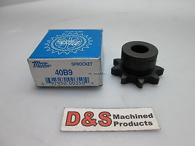 "New in Box MARTIN 40B9 Sprocket 1/2"" Inner Diameter"
