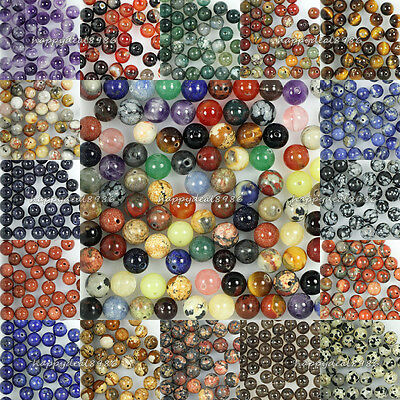 Wholesale New Genuine Natural Stone Gemstone Round Loose Beads 4mm,6mm,8mm,10mm