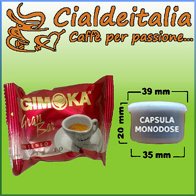 100 capsule caffè GIMOKA Gran Bar - Comp. Lavazza Espr.Point