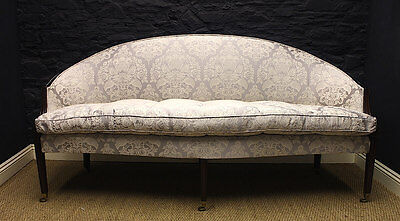 Antique Sofa Circa 1780 - George III Mahogany Arched Back GIL:0399)