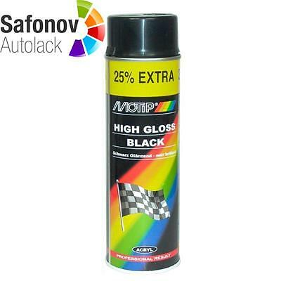 MOTIP Rallye Spray 500 ml Glanz schwarz 04005