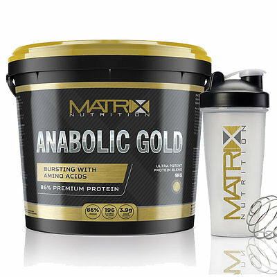 Matrix Anabolic Gold Peptides Optimum Whey Protein Powder - All Flavours - 5Kg