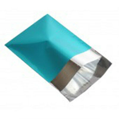 "10 Metallic Turquoise 6.5""x9"" Foil Mailing Postage Postal Bags"
