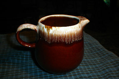 Vintage McCoy Drip Glaze Brown Small Pitcher 7020 Made In USA
