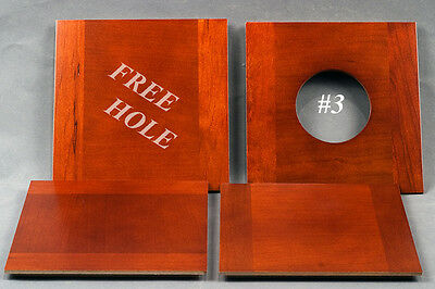 """1 Wooden Lens Board  6""""x 6"""" for 2D Eastman / B&J 8"""" x 10""""- Amer.cherry/free hole"""