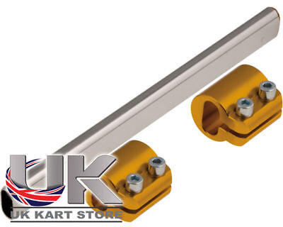 Tony Kart Torsion Bar Flat & Gold Clamps - OTK, TonyKart Go Kart