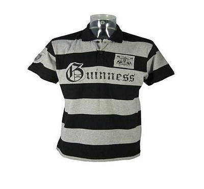 Guinness Black/Grey Polo Shirt (S-XL)