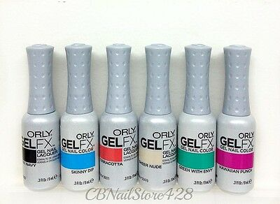 ORLY GelFX -Gel Nail Lacquer - Set of Any 6 Colors x 0.3 fl.oz