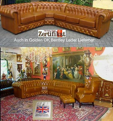 Ecksofa  Chesterfield Bel Air E 100 Ledergruppe