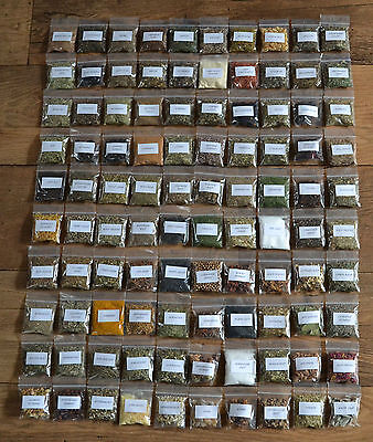 Magical Herb and Resin Kit ~ 100 Named Herbs and 6 Resins & Magical Uses Booklet