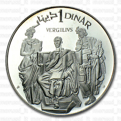 MORUZZI - Tunisia Dinar 1969 Virgil Silver PROOF