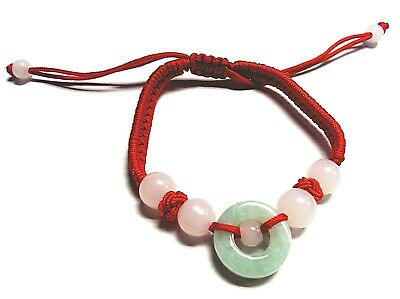Feng Shui  Jade  Bracelet with adjustable string  for Good Fortune and Luck