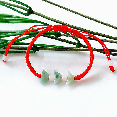 Feng Shui  Jade Yuan Bao Ingot  Bracelet with adjustable string  for wealth luck