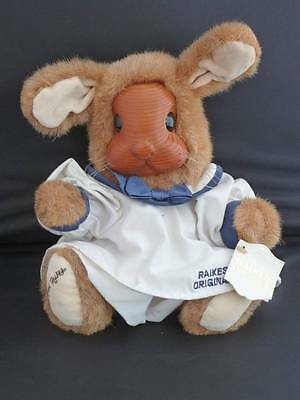 ROBERT RAIKES BETSY ANN PLUSH WOOD BUNNY RABBIT W TAGS 1990 #661428