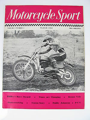 MOTORCYCLE SPORT MARCH 1968 BMW's DESMO VELO - PADDY JOHNSTON