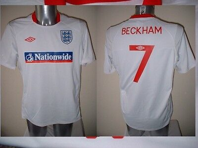 England Beckham Man Utd PSG Football Soccer Shirt Jersey Uniform UMBRO S-XXL
